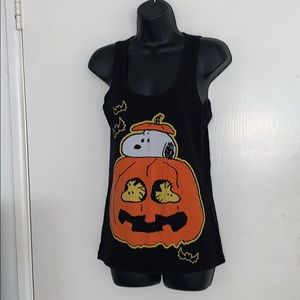 🎃Snoopy Peanuts Medium Halloween Black Tank